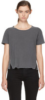 Amo Black Twist Cut-out T-shirt