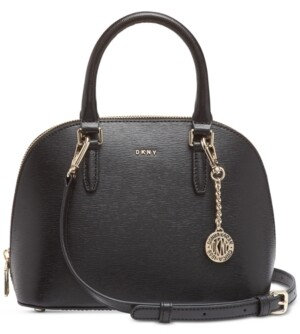 DKNY Bryant Leather Dome Satchel, Created for Macy's