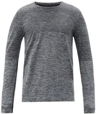 Asics Logo-print Mesh-jersey Long-sleeved Top - Black Multi