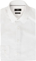 HUGO BOSS Geometric-print cotton shirt