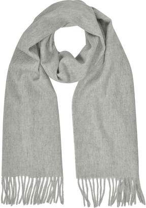Mila Schon Cashmere and Wool Sand Fringed Long Scarf