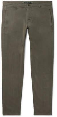 Aspesi Slim-Fit Garment-Dyed Cotton-Blend Twill Trousers