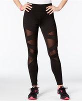 Jessica Simpson The Warm Up Juniors' Mesh-Inset Yoga Leggings