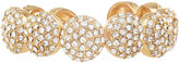 Natasha Accessories Natasha Crystal Gold-Tone Large Round Bracelet