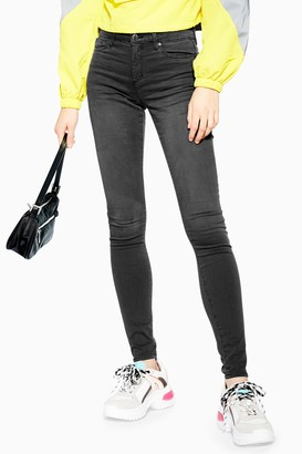 Topshop Womens Washed Black Leigh Skinny Jeans - Washed Black