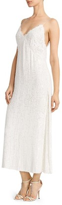 Magda Butrym Hawaii Sequined Slip Dress