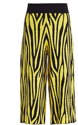 Victor Glemaud Zebra Print Wide-Leg Cropped Pants