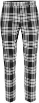 Topman Black And White Check Ultra Skinny Fit Cropped Smart Trousers