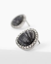 White House Black Market Black Line Stone Stud Earrings