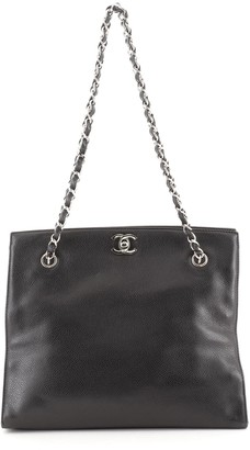 Chanel CC Chain Tote Caviar Small