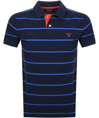 Gant Multi Stripe Rugger Polo T Shirt Navy