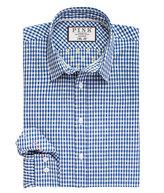 Thomas Pink Bain Check Slim Fit Button Cuff Shirt