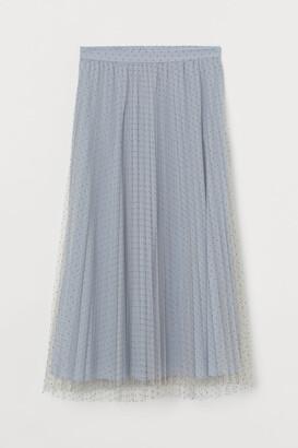 H&M Pleated tulle skirt