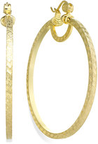 SIS by Simone I Smith 18k Gold over Sterling Silver Earrings, Extra-Large Woven-Cut Hoop Earrings
