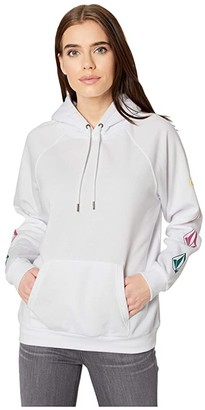 Volcom Deadly Stones Hoodie (White) Women's Clothing