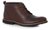 Rockport Dark Brown Leather 'charson' Lace Up Boots