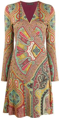 Etro paisley flared dress
