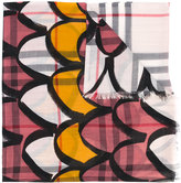 Burberry decorative check scarf - women - Silk/Wool - One Size
