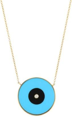 Jennifer Zeuner Jewelry Danai 18K Goldplated & Multi-Stone Eye Pendant Necklace