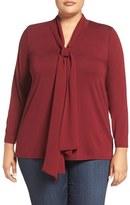 Vince Camuto Plus Size Women's Chiffon Tie Jersey Top