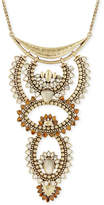 Lucky Brand Gold-Tone Beaded Statement Necklace