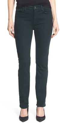 JEN7 by 7 For All Mankind Stretch Sateen Slim Straight Leg Pants