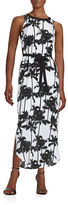 Kensie Palm Print Maxi Dress