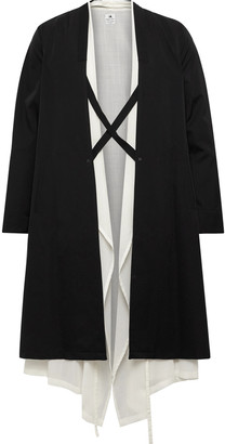 SASQUATCHfabrix. Layered Wool Coat - Black