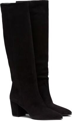 Prada Calf-Length Slip-On Boots