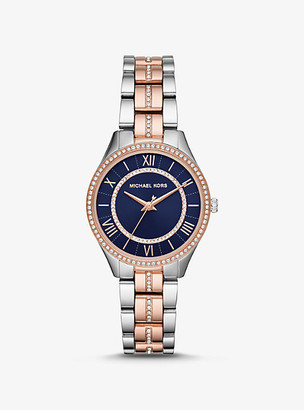 Michael Kors Mini Lauryn Pave Two-Tone Watch - Two Tone