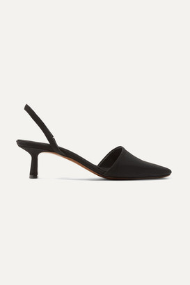 Neous Goodyera Faille Slingback Pumps - Black