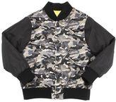 MSGM Quilted Fleece & Camo Taffeta Jacket