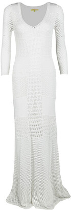 Catherine Malandrino Off White Crochet Knit Fitted Maxi Dress P / XS