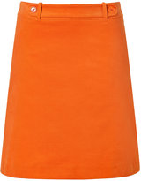 Hugo Bright Orange Mini Cord Rigula Skirt