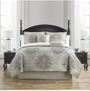 Waterford Ameline Reversible King 4 Piece Comforter Set Bedding