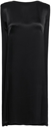 By Malene Birger Draped Satin-crepe Dress