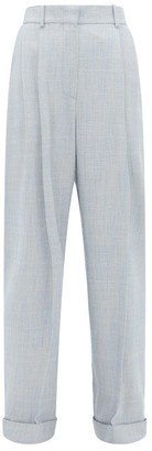 Roksanda Venezio Double-pleat Turn-up Trousers - Blue