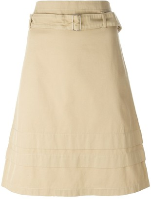 Romeo Gigli Pre Owned belted A-line skirt