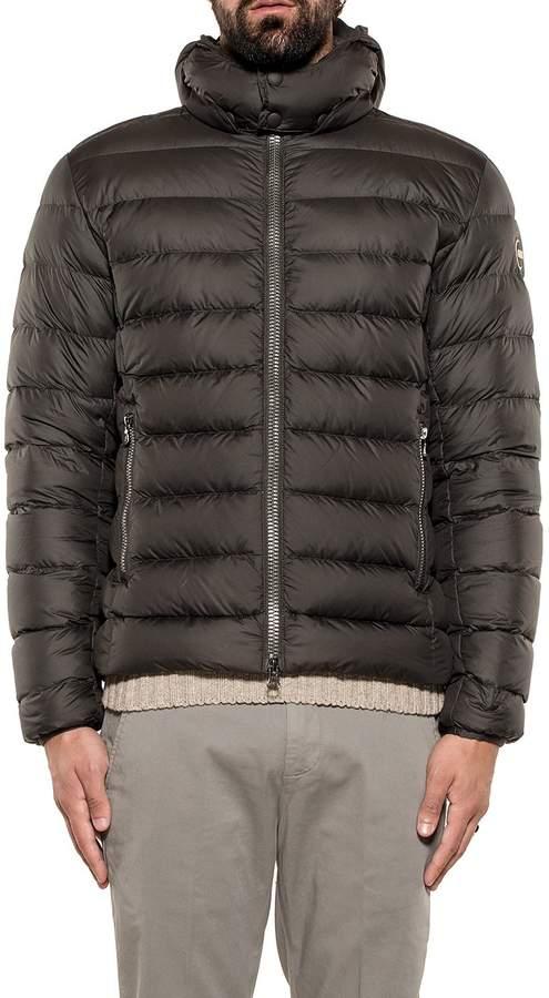 Colmar Dark Gray/light Gray Empire Hooded Down Jacket