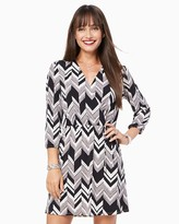 Charming charlie Chevron Print Wrap Dress