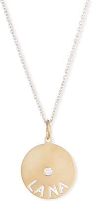 Sarah Chloe 14k Mimi Diamond & Name Pendant Necklace