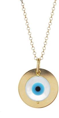 Kozakh Iza Mother-of-Pearl Eye Charm Pendant Necklace