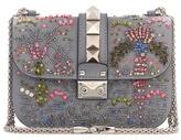 Valentino Garavani Lock crystal-embellished shoulder bag