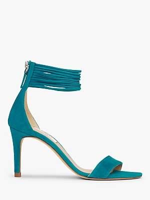 LK Bennett L.K.Bennett Tiffany Spaghetti Strap Stiletto Heel Sandals, Turquoise Leather