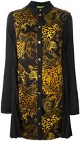 Versace tiger print shirt dress