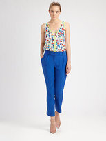 Milly Avery Printed Silk Top