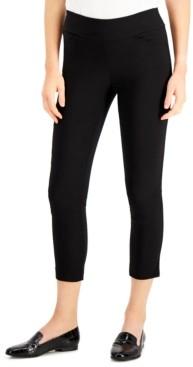 Kasper Petite Pull-On Cropped Slim-Leg Pants