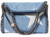 Stella McCartney Falabella star-print denim cross-body bag
