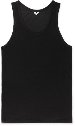 Secondskin - Slim-Fit Silk Tank Top - Men - Black