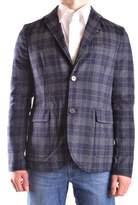 Peuterey Men's Blue/grey Wool Blazer.
